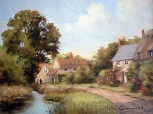 GinaGrimwood_CottagesByStream