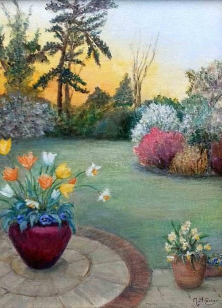 MargaretCarter_OrangeSunsetMatchingTulips