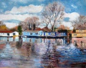 MarionEastwood_HouseboatsNearHamptonCourt