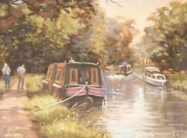 GinaGrimwood_NarrowBoatOnTheRiverWey