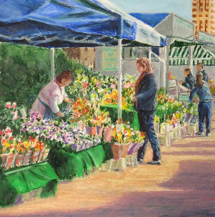 Challenge_Flower stall, Epsom Market